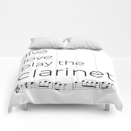 Live, love, play the clarinet Comforters