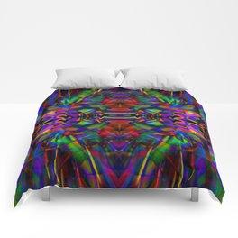 Rainbow Abstract Fractal Art Comforters