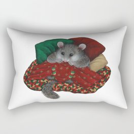 Wilbur the fat dormouse Rectangular Pillow