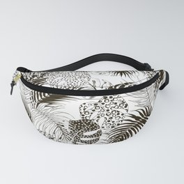 Monstera and palm Fanny Pack