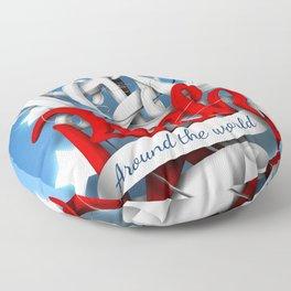 Let's Rock Around The World Floor Pillow