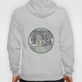 Round Barn Inn, Waitsfield, Vermont near Sugarbush- Zentangle illustration Hoody