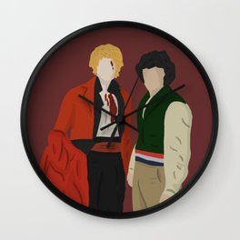 Enjolras and Grantaire dying holding hands Wall Clock