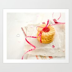 Fruit Cream Biscuits Art Print