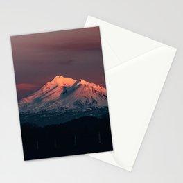 Sunset on Mt. Shasta Stationery Cards