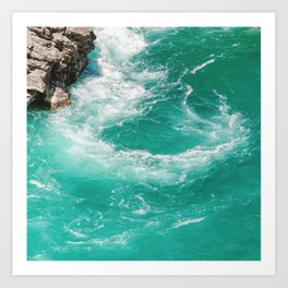 Whitewater Vortex Art Print