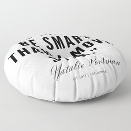 5   | Natalie Portman Quotes | 190721 Floor Pillow