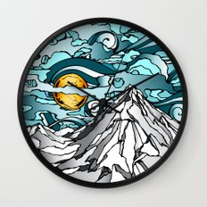 Turquoise Sky Wall Clock