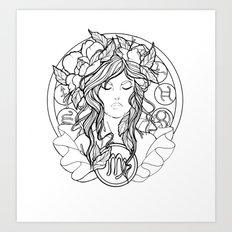Zodiac Series | Virgo Art Print