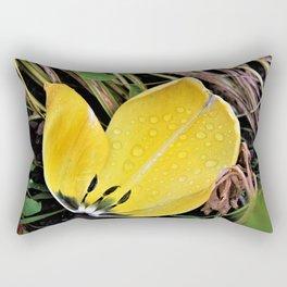 Yellow tulip petal Rectangular Pillow