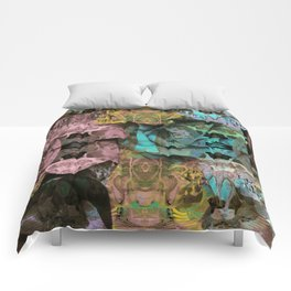 Surreal Floral Intricate Visionary Print Comforters