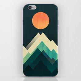 Ablaze on cold mountain iPhone Skin