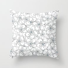 Cherry Blossom Blue - In Memory of Mackenzie Throw Pillow