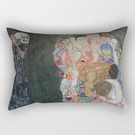 Life and Death - Gustav Klimt Rectangular Pillow