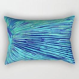 blue half moon mushroom Rectangular Pillow