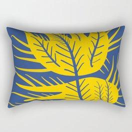 Swedish Yellow and Blue Design Flower Rectangular Pillow
