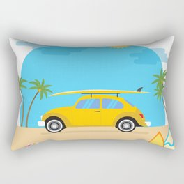 Summer Trip Beetle Rectangular Pillow