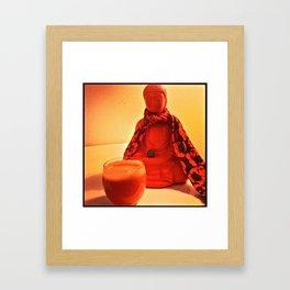 Carrots and Buddha Framed Art Print