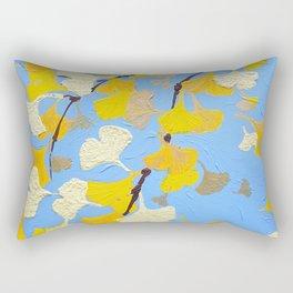 Yellow ginkgo biloba leaves Rectangular Pillow