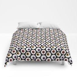 Pixel Eyeballs Comforters