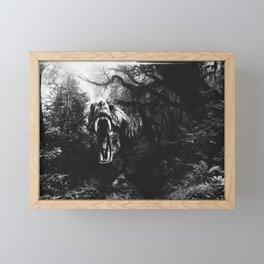 Black and white Jurassic period Framed Mini Art Print