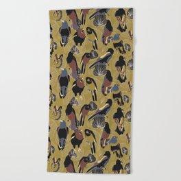 Birds of Prey in Gold Beach Towel