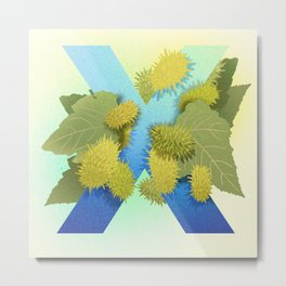 Xanthium Strumarium Metal Print