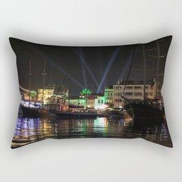 Marmaris Marina Nightscape Rectangular Pillow
