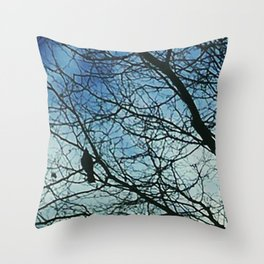 Swooping silhouettes Throw Pillow