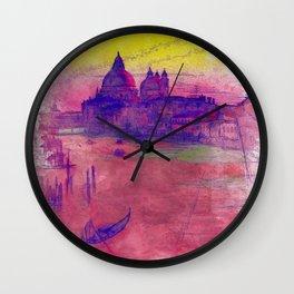 Venezia Canal Grande - SKETCH-ART Wall Clock