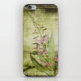 Decorative Green Floral iPhone Skin
