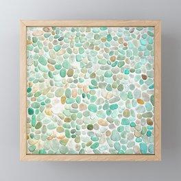 Mint Sea Stones Framed Mini Art Print
