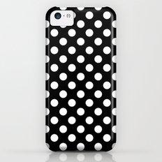 Black and White Polka Dot Pattern iPhone 5c Slim Case