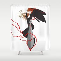 justice Shower Curtains featuring Justice by Stevyn Llewellyn