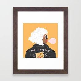 She Is Fierce Framed Art Print