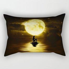 Beauty Mermaid Starry Night Rectangular Pillow