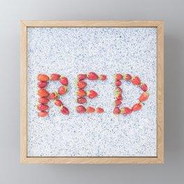 Red strawberries Framed Mini Art Print