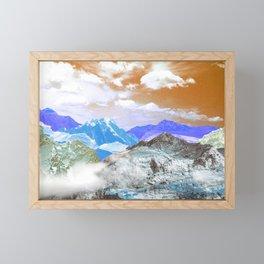Mountains (photo montage) 3 Framed Mini Art Print