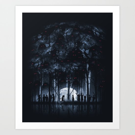 Creatures Rule the Night Art Print