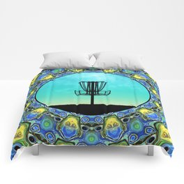 Disc Golf Abstract Basket 5 Comforters