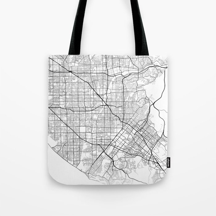 Minimal City Maps - Map Of Santa Ana, California, United States Tote Bag