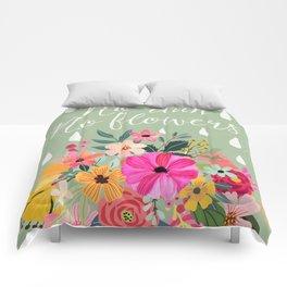 No rain, no flowers Comforters