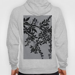 TREE BRANCHES BLACK AND GRAY LEAVES AND BERRIES Hoody