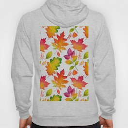Fall Leaves Watercolor - White Hoody