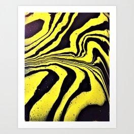Royal Bengal Tiger- Abstract animal print acrylic art Art Print