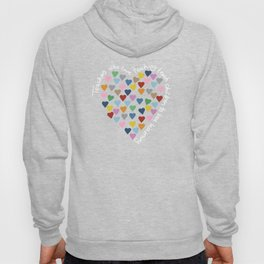 Hearts Heart Teacher Black Hoody