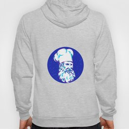 Angry Bearded Chef Circle Doodle Hoody