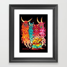 PAKKU-MAN Framed Art Print