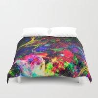 big bang Duvet Covers featuring Big Bang by haroulita