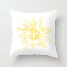 Sun Rune Scrape Throw Pillow
